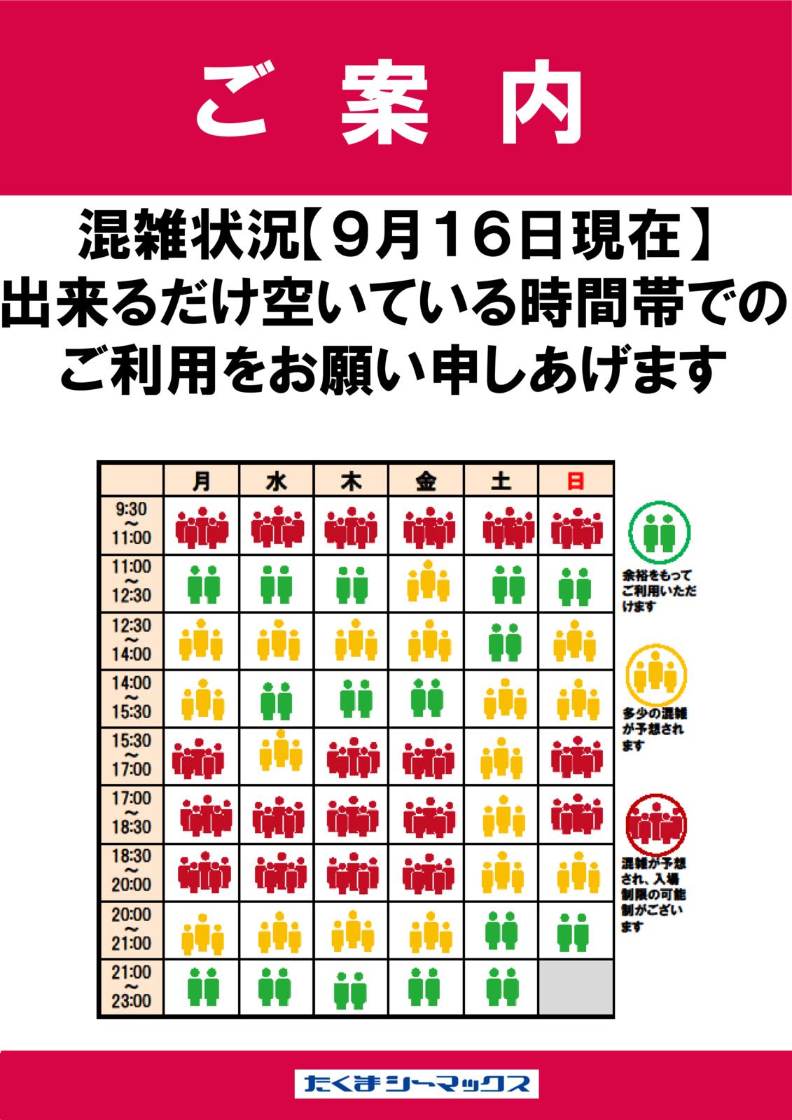 【0916】混雑状況のサムネイル